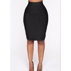 Fashion Nova Office Romance Bandage Mini Skirt